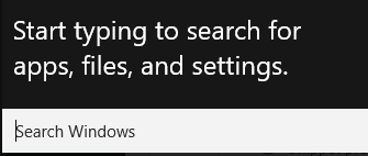 windows 10 search feature