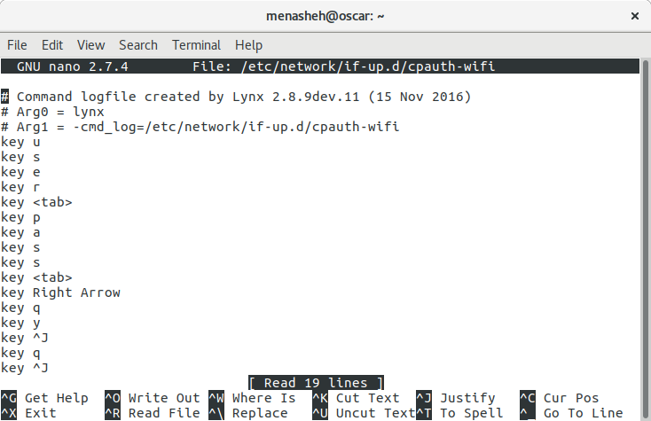 logfile created by lynx